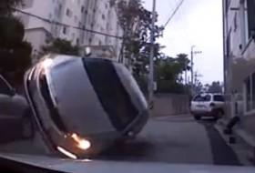 baleset, kia, optima, videó