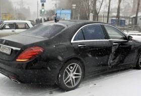 baleset, havazás, hó, mercedes-benz, orosz, videó