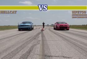 camaro ss, challenger, chevrolet camaro, gyorsulási verseny, hellcat, hennessey, tuning, új dodge, videó