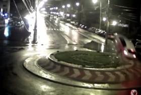 baleset, románia, videó