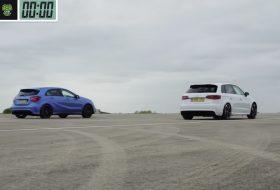 a45 amg, gyorsulási verseny, rs3, új audi, új mercedes, videó