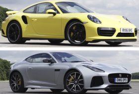 911 turbo, f-type svr, gyorsulási verseny, jaguar, új porsche, videó