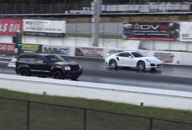 911 turbo, autós videó, grand cherokee, gyorsulási verseny, jeep, porsche 911