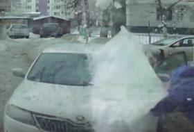 baleset, hó, jég, skoda, videó