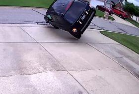 amerika, autóbaleset, kaszkadőr, range rover, suv, videó