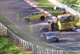 astra gtc, astra opc, autóbaleset, nürburgring, új opel astra, videó, zöld pokol