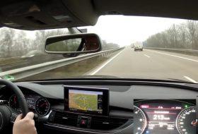 audi a6, autobahn, autópálya, balesetveszély, közlekedésbiztonság, videó