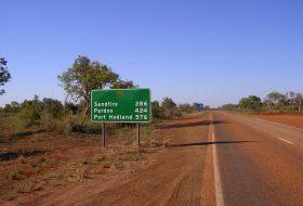a nap képe, ausztrália, autóút, országút, világrekord