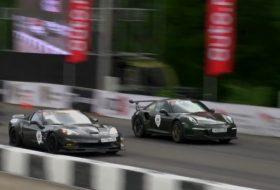 911 gt3 rs, chevrolet, corvette, gyorsulási verseny, mercedes sls amg, porsche 911, videó