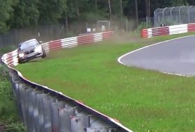baleset, bmw 1-es, m135i, nürburgring, videó