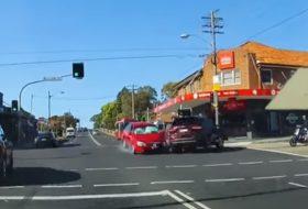 ausztrália, autóbaleset, autós videó, új kia