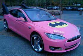 batman, batmobile, tesla model s, tuning, vicces