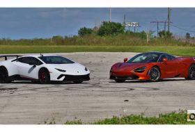 720s, autós videó, gyorsulási verseny, huracan performante, új lamborghini, új mclaren