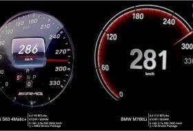 autós videó, gyorsulási verseny, m760Li, mercedes-amg, s63 amg, új bmw