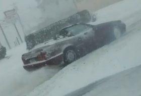 autós videó, havazás, hó, kabrió, mercedes-benz