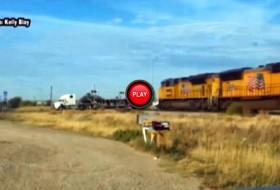 kamion, videó, vonat