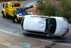 baleset, mazda3, videó
