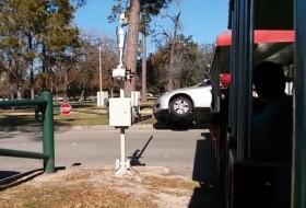 baleset, honda accord, videó, vonat