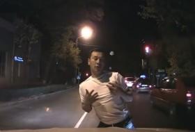 gyalogos, részeg, videó