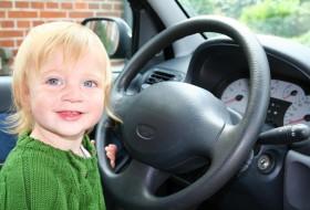 autólopás, gyerek