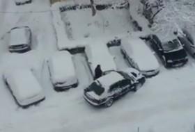 hó, koccanás, videó