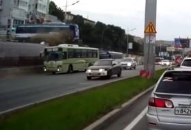 autóbusz, baleset, busz, videó