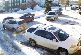 kanada, koccanás, parkolás, videó