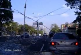 baleset, gyalogos, robogó, videó