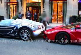bugatti veyron, koccanás, laferrari, videó