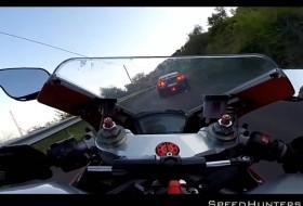 ducati, gt-r, motoros, nissan, videó