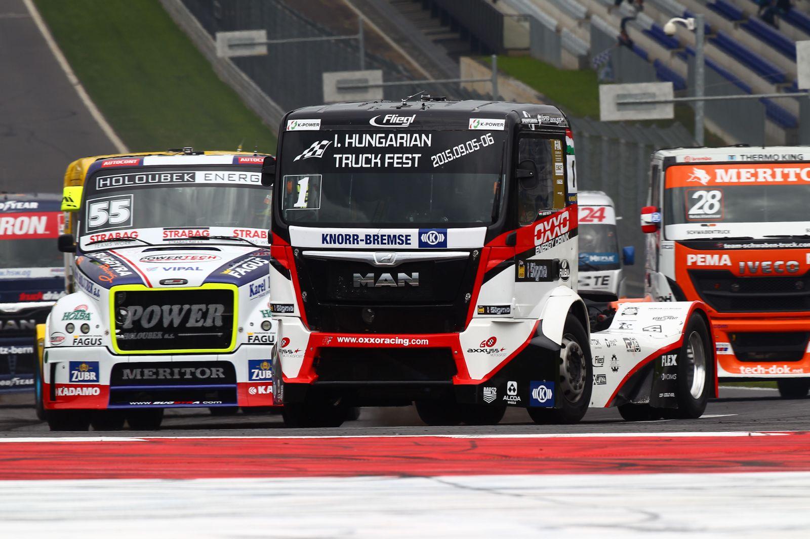 Kamion verseny a Hungaroringen - nyugat krónika