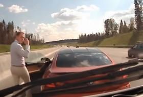 autópálya, bmw, bmw m6, mentőautó, oroszország, videó