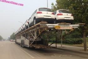 kína, teherautó, tréler, volkswagen