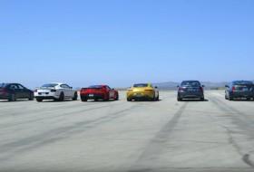 bentley, cadillac, chevrolet, corvette, gyorsulási verseny, mazda, mercedes-amg, új porsche, videó, volkswagen