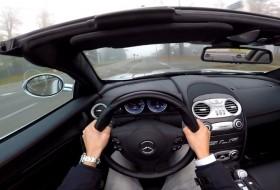 gyorshajtás, mercedes, roadster, slr, slr mclaren, videó