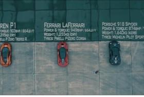 918 spyder, gyorsulási verseny, hibrid, laferrari, p1, új ferrari, új mclaren, új porsche, videó