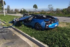 amerika, baleset, bmw i8, elektromos autó