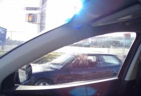 fedélzeti kamera, honda civic, kanada, rendőr, videó