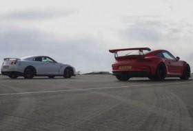 911 gt3 rs, gyorsulási verseny, nissan gt-r, új nissan, új porsche, videó