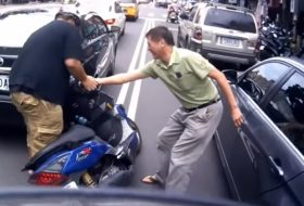 baleset, bmw, motor, videó
