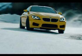 bmw m6, drift, hó, jég, videó