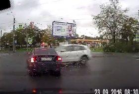 audi, autóbaleset, oroszország, s60, videó, volvo