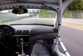 baleset, bmw, m3, nürburgring, porsche, videó