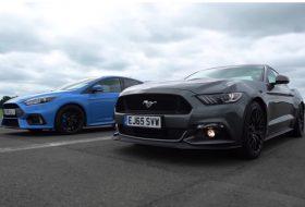 focus rs, ford focus, gyorsulási verseny, top gear, új mustang, videó