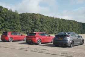 civic type r, cupra 290, gti clubsport, gyorsulási verseny, seat leon, új volkswagen, videó
