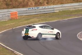 drift, mégane rs, nürburgring, renault