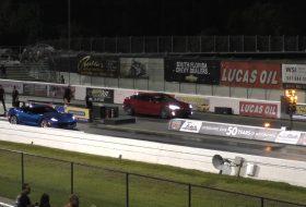 gyorsulási verseny, p100d, rekord, tesla model s, új corvette, videó