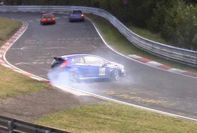 baleset, fiesta st, ford, nürburgring, videó