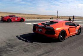 911 turbo s, aventador, gyorsulási verseny, lamborghini, porsche 911, videó