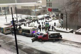 baleset, hó, hókotró, kanada